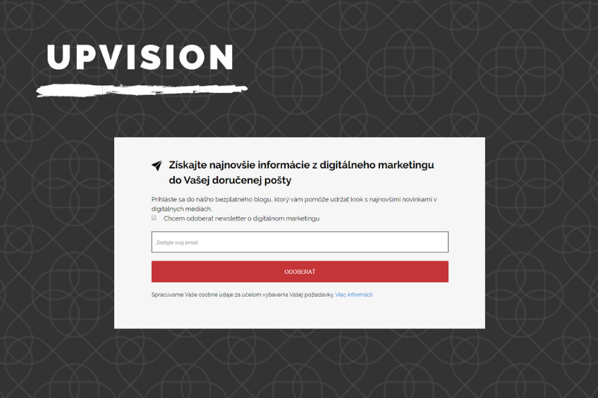 newslettring-upvision